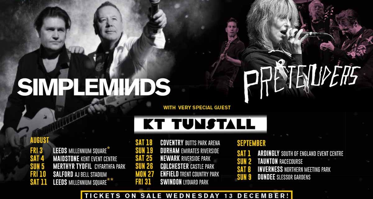 Midas Merthyr Music: Simple Minds, The Pretenders and KT Tunstall