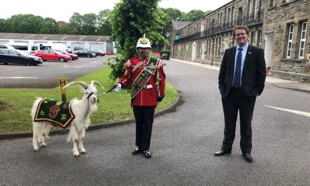 Praise for the 3rd Battalion The Royal Welsh, as Joel James MS visits Maindy Barracks